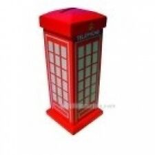 Heritage Wooden Traditional Red Telephone Moneybox. Free Delivery