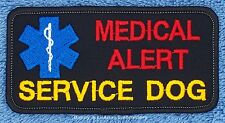 MEDICAL ALERT SERVICE DOG PATCH para 2x4 in Danny & LuAnns Embroidery assistance
