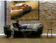 Racing Car on the Autocross Canvas Art Poster Print Home Decor
