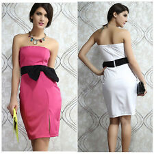 Sexy Women Strapless Formal Cocktail Prom Party Weddeing Bridesmaid Short Dress