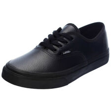 Vans Kids Authentic Leather Shoes in Black