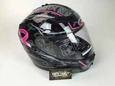 New Gmax GM54S Pink Ribbon Modular Motorcycle street Helmet  with LED Lights