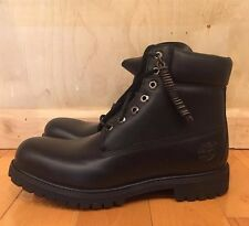 TIMBERLAND 6 INCH PREMIUM BOOT BLACK 6'' CONSTRUCTION LEATHER SZ 7-13  20570