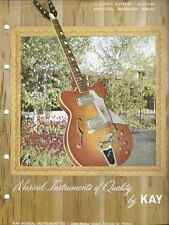 Vintage Guitar Catalog Kay 1961 Full Line Catalog Rare