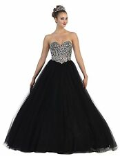TheDressOutlet Stunning Long Strapless Quinceanera Dresses Formal Ball Gown