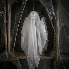 Hanging Halloween Battery Operated Animated LED Light Up Ghost Decoration Prop