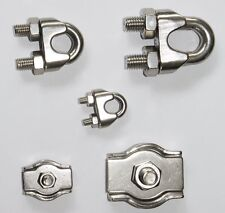 Wire cable Clips Cable clamp Wire clamp Shackle clips Stainless steel V4A