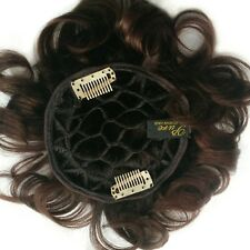 "100% Human Hair Pull Thru Wiglet with Soft Honeycomb Base w/ wire edges 6"" long"