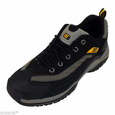 Caterpillar Moor RM Athletic Oxford Mens Black Trainers Shoe Safety Boots New