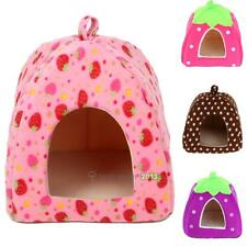 Lovely Soft Strawberry Pet Dog Cat Bed House Kennel Doggy Warm Cushion Basket