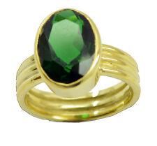 Emerald CZ Gold Plated Ring studly Green jewelry AU K,M,O,Q