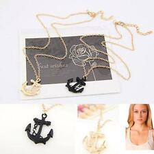 New Unique Jewelry Charm Metal Necklace Anchor Pendant Chain Gold