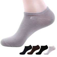 Lot 10Pairs Mens Cotton Bamboo Fiber Crew Ankle Socks Sports Low Cut Casual New