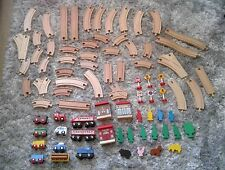 Big Wooden Toy Train Track Bundle inc Cars, Animals, Trees, Signs & Buildings