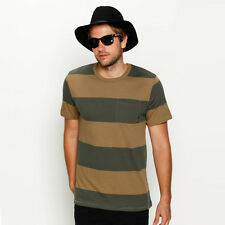 New Brixton Segundo T-Shirt in Green | Mens Mens Tees