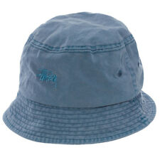 Stussy Basic Washed Bucket Hat in Blue