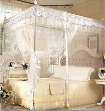 New Princess White Four Corner Post Bed Canopy Mosquito Netting Or Frame Post