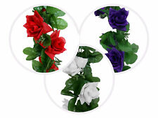 36 ft 3D Chain Silk Rose Garlands Wedding Party Supplies Wholesale Discounted