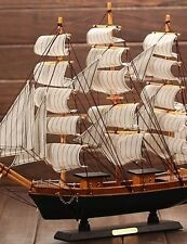 YZL/ Wooden Sailing Boat Model The Mediterranean Pirate Ship Gift Craft Ship Smo