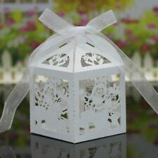 20x Christmas Candy Gift Sweets Boxes With Ribbons Wedding Party Birthday Favors