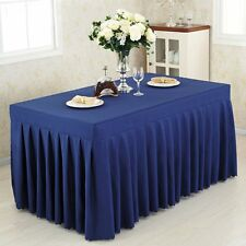 New Lots 6' ft. Fitted Table Skirt Tablecloth Wedding Banquet Pleated Polyester
