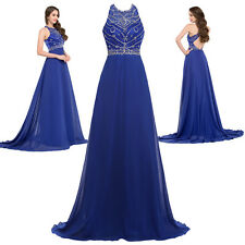 Stock Wedding Bridesmaid Evening Dress Cocktail Party Formal Long PROM Ball Gown