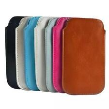 Vertical Pull Flip Leather Sleeve Leather Pouch Case Cover for iPhone Samsung