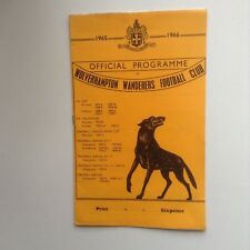 1960's  Wolverhampton Wanderers ( Wolves) Football Programmes - Various Fixtures