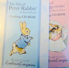Beatrix Potter Character Rubber Stamps and CDRoms from Crafter's Companion