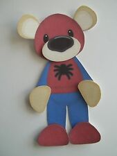 3D ~ U Pick - Spiderman Superman Batman Bear Scrapbook Card Embellishment 21