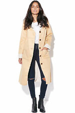 New MINKPINK Womens Patchwork Sherpa Coat Tan