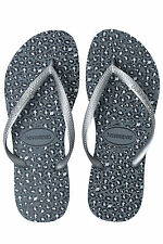 New HAVAIANAS Womens Slim Animals Thong Grey Havaianas