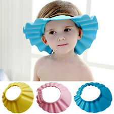 New Soft Baby Kids Children Wash Hair Shield Shower Cap Hat Shampoo Bath Bathing