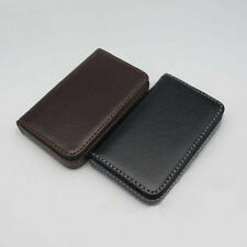 Leather Pocket Business ID Credit Card Holder Case Wallet With Magnetic Shut CN