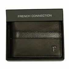 MENS SUEDE LEATHER WALLET FCUK FRENCH CONNECTION DESIGNER BROWN PRICE £14.99