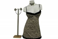 Halloween Costume 4 pc Adults Women Sexy Kitty Leopard Outfit Dress Up Role Play