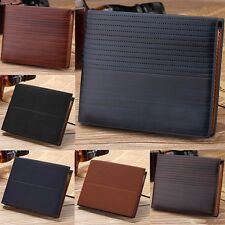 Men's Genuine Leather Cowhide Bifold Wallet ID Credit Card Holder Coin Purse Hot