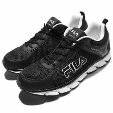 Fila J972Q Black White Mens Running Shoes Sneakers Trainers 1-J972Q-001