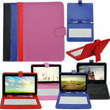 "Leather Folder Pouch Cover Case With USB Keyboard for 9"" inch Android Tablet PC"