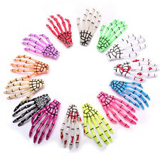 Special Halloween Zombie Skull Skeleton Hand Bone Claw Hairpins Hair Clips 2pcs