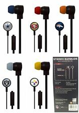 NFL Team Earbuds with Microphone for Iphone/Android