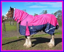 LOVE MY HORSE 1200D 7'0 - 7'3 Clydy Combo Rainsheet Cotton Lining Pink / Navy
