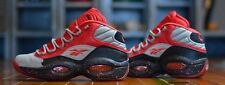 Reebok Question Mid Allen Iverson STASH Sz 8.5 13 grey red The Answer Pump Fury