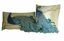 New Vintage Vivid Peacock Embroidery Decorative Pillow Case Cushion Cover Sham