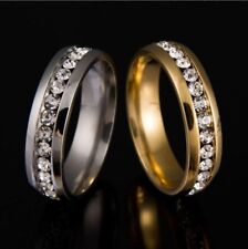 Never Fade 18k Gold Plated 316l Stainless Steel Ring Titanium Steel Engagement W