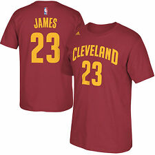 Cleveland Cavaliers LeBron James NBA Name & Number T-Shirt