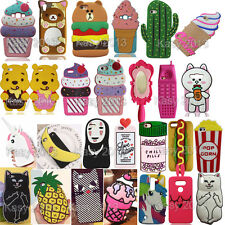 3D Cartoon Soft Silicone Case Phone Back Cover For Various Mobile Phones