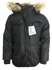 PARKA GIRLS NEW JACKET COAT HOODED DOUBLE LAYERED WINTER SCHOOL AGE 2 TO 12