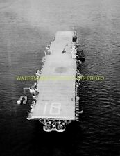 USS WASP CV-18  Black  Photo Military USN Navy Aircraft Carrier  CV 18 CVA-18
