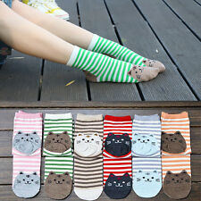 1 Pair Fashion Womens Sports Casual Cute Cat Striped Ankle High Cotton Socks